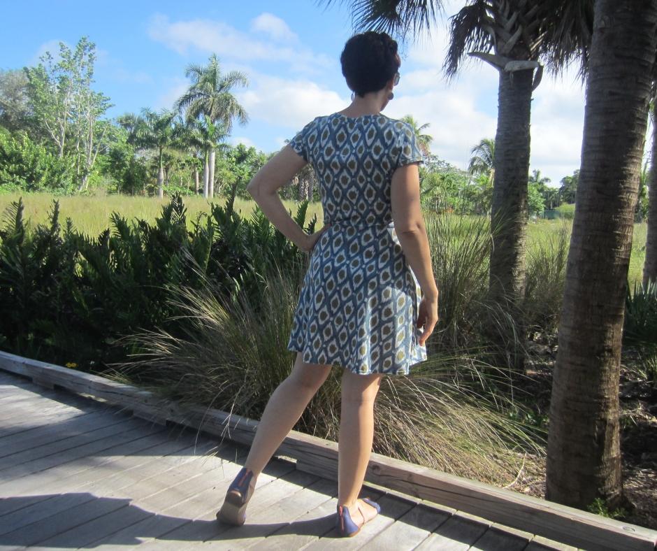 Sew Stretchy- Ikat Lady Skater Sew Pomona