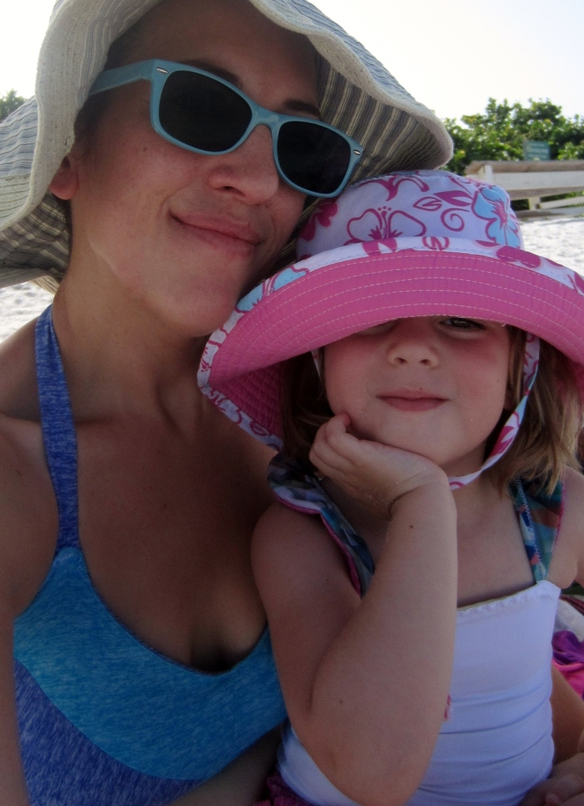 Comfort Dressing- Ami and I at the beach Centauree swim & Cosi swim