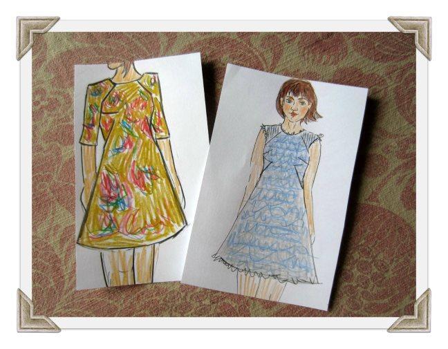 Francoise dress Illustrations, Sew Pomona
