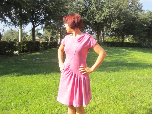 Vintage Vogue V2787, Cochineal Dyed Organic Knit, Sew Pomona