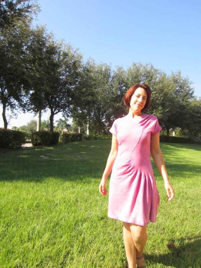 Vintage Vogue V2787 Cochineal Dyed Organic Knit Dress, Sew Pomona