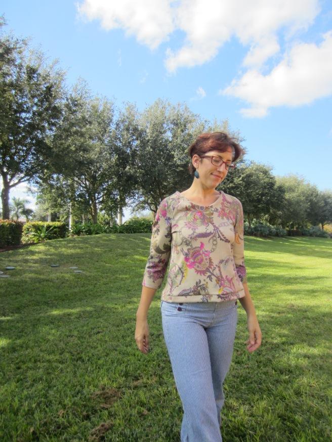 Francoise Scuba Knit Top, Sew Pomona